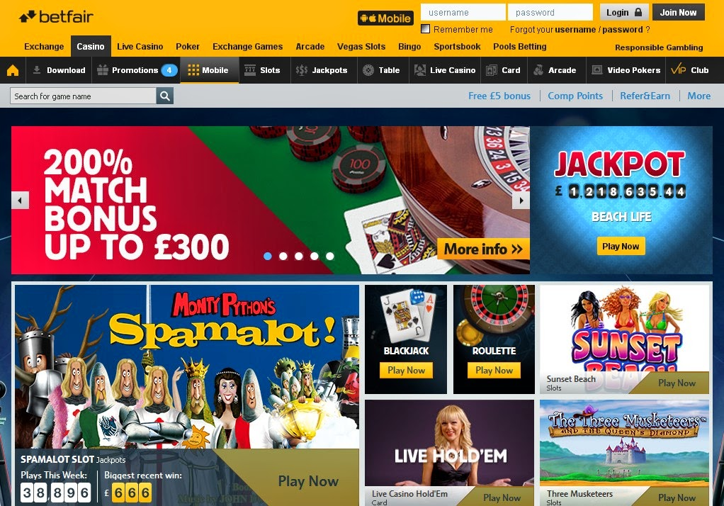 Betfair online casino review casino 1995