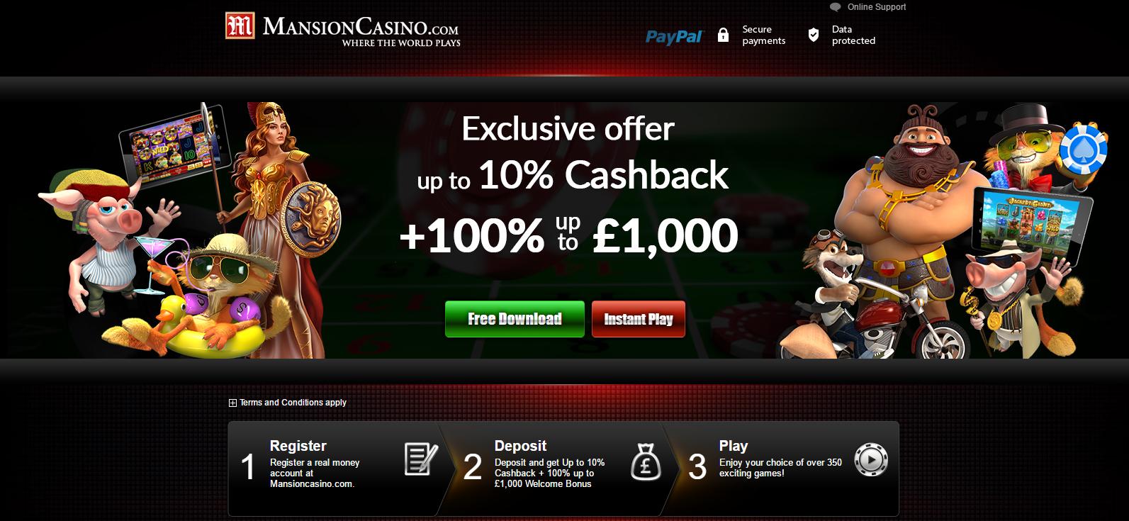 Mansion casino 10 free